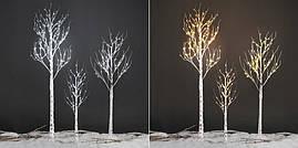 Декоративный светильник береза, дерево бонсай 1,80 м 180 лед ip44, фото 2