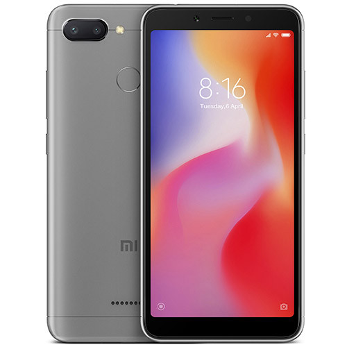 Смартфон Xiaomi Redmi 6 3/32Gb Grey Global firmware (CN) 12 мес