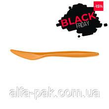 Нож цветной оранжевый 100 шт/уп