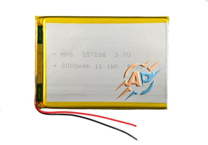 Аккумулятор 3000mAh 3.7v 357098 для планшетов Assistant AP-735G, AP-751G, AP-719 green.
