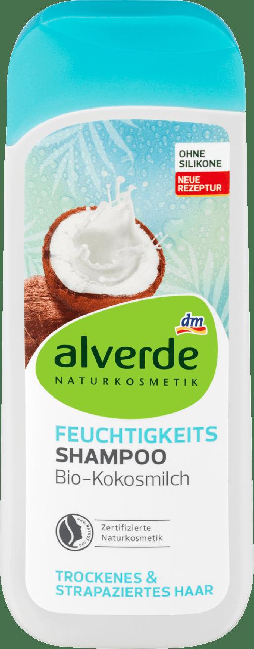 Увлажняющий шампунь alverde NATURKOSMETIK Feuchtigkeit Bio-Kokosmilch, 200 ml