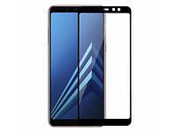 Стекло 5D Samsung Galaxy A8 Plus (2018) Черный