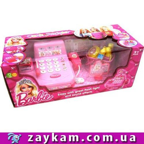 """Касовий апарат """"Barbie"""" Барбі DN700-BL на батарейках, ваги, сканер, мікрофон, продукти, в коробці"""