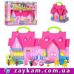 """Ляльковий будиночок """"Sweet Home"""", меблі, фігурки, звук, світло, в коробці"""