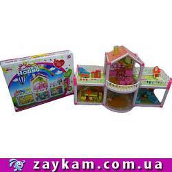Великий ляльковий дім 957 з ляльками, меблями, в коробці