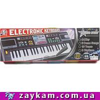 Детский синтезатор пианино MQ-006UF FM радио + USB (mp3). Работает от сети + батарейки