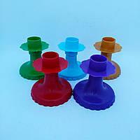 Подсвечник пластмассовый разные цвета
