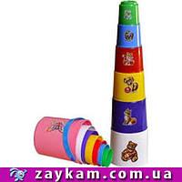 Пирамидка «Пасочки», 6 элементов ТЕХНОК (2032)