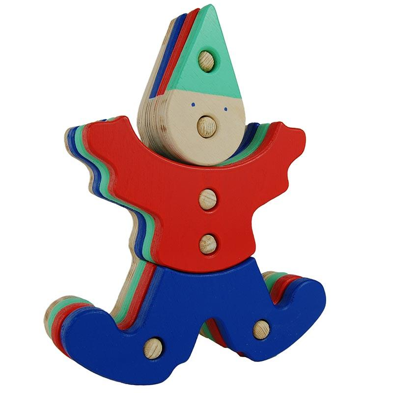 Клоун-Пирамидка из дерева