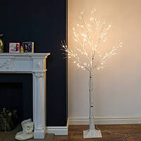 Декоративный светильник береза, дерево бонсай 1,80 м
