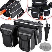 Нарамная сумка для велосипеда, велосумка на руль, двойная