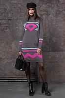 Вязаная женская туника, платье Диамант, в расцветках, фото 1