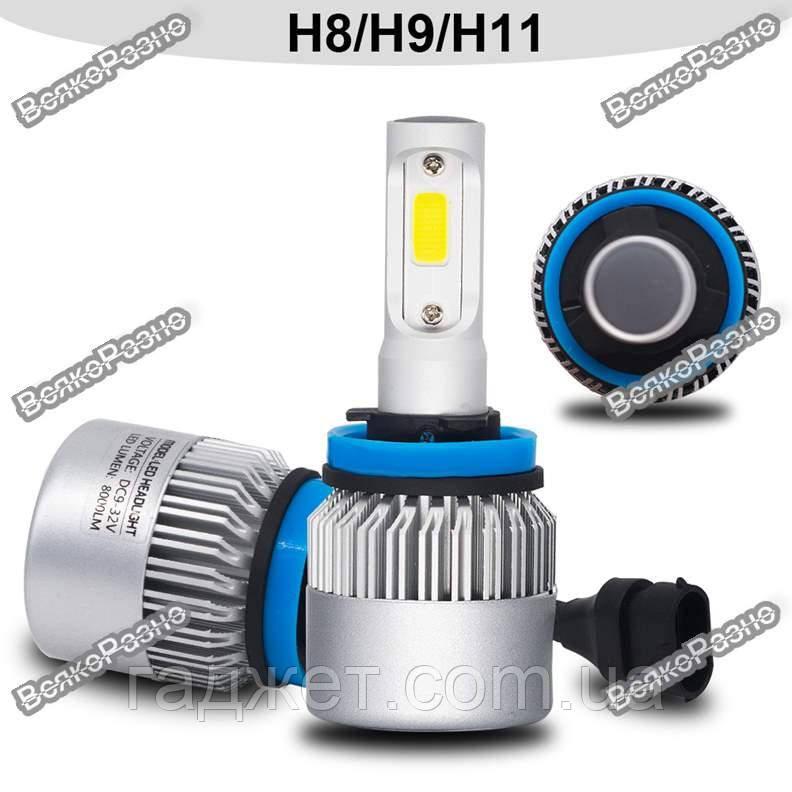 Лампы в авто YHKOMS H8/H9/Н11.  Светодиодные лампы YHKOMS H8 H9 Н11