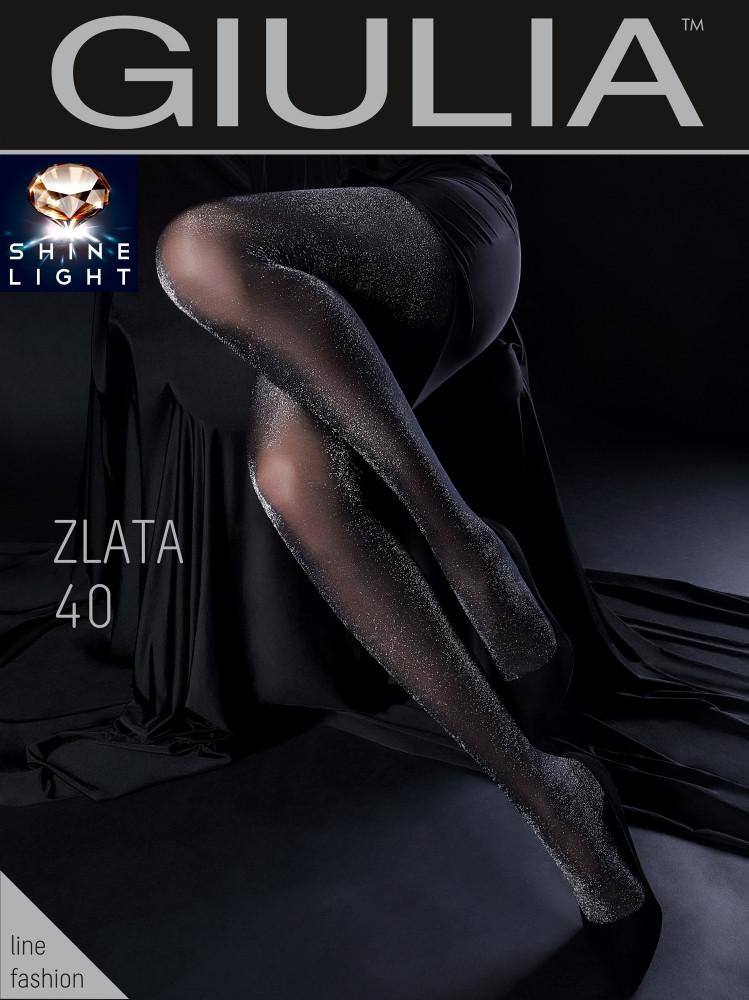 Фантазийные колготки с люрексом Giulia Zlata 40 den