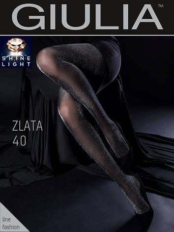 Фантазийные колготки с люрексом Giulia Zlata 40 den, фото 2