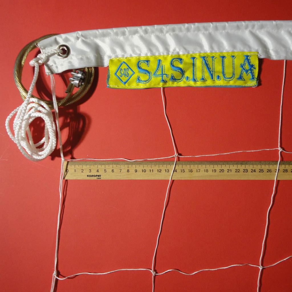 Сетка для классического волейбола «Капрон 15» с тросом, цвет в ассортименте