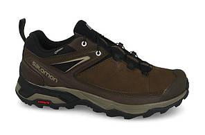 Мужские кроссовки Salomon X Ultra Ltr Gore-Tex (404785) коричневые кожаные, фото 2
