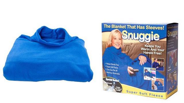 Флисовый плед с рукавами Snuggie (Снагги)