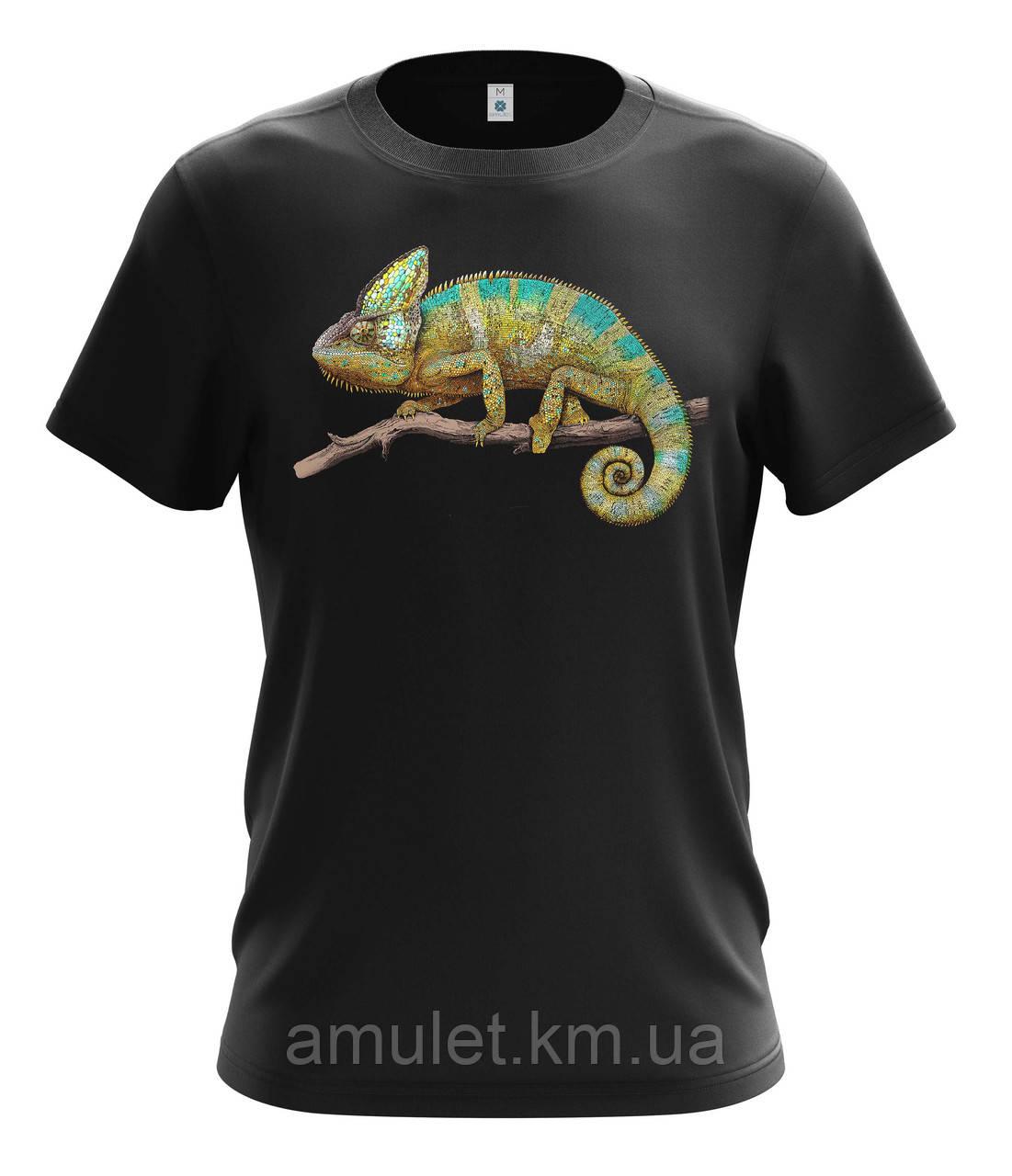 """Летняя  футболка мужская  """"Хамелеон"""""""
