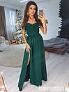 Длинное платье с разрезом и открытыми плечами 66py2123, фото 5