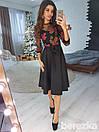 Платье с верхом из сетки и пышной юбкой миди 66py2127, фото 2