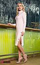 Вязаное платье с высокой горловиной и люверсами 45py2133, фото 2