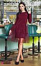 Платье с сеткой сверху и оборками 45py2135, фото 2