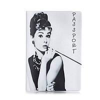 """Обложка для паспорта ZIZ """"Одри Хепберн"""""""