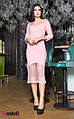 Платье с вставками сетки и декором 45py2141, фото 2
