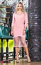 Платье с вставками сетки и декором 45py2141, фото 3