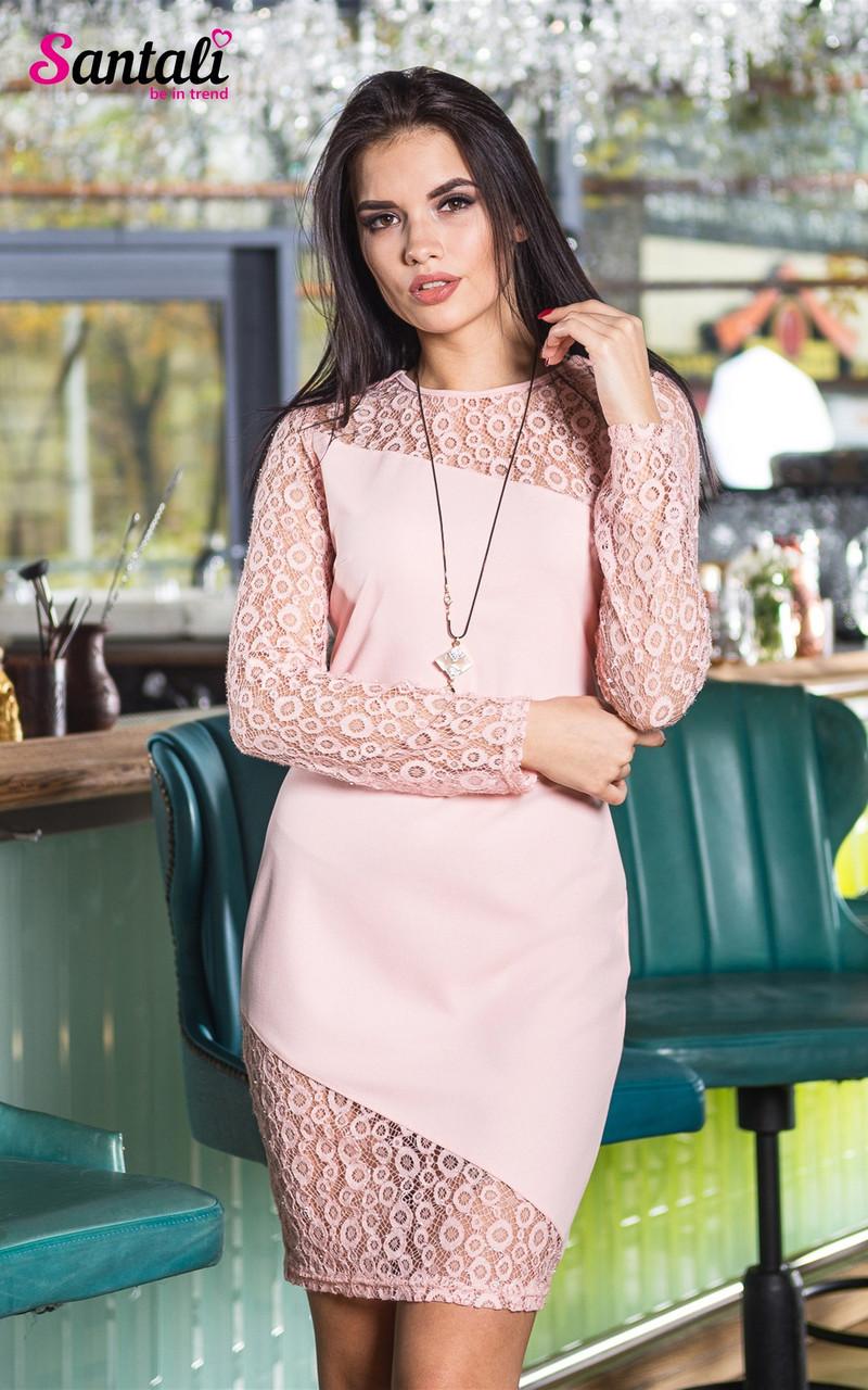 Облегающее платье с гипюром и люрексом 45py2142