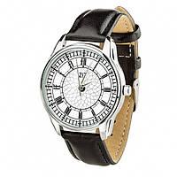 """Часы """"Биг Бен"""" (ремешок насыщенно - черный, серебро) + дополнительный ремешок"""