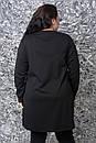 Женская туника большого размера с экокожей 10ba1197, фото 5