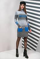 Вязаное женское платье Мулине, в расцветках