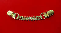 Застежка для кардигана 11 см золото с камнями