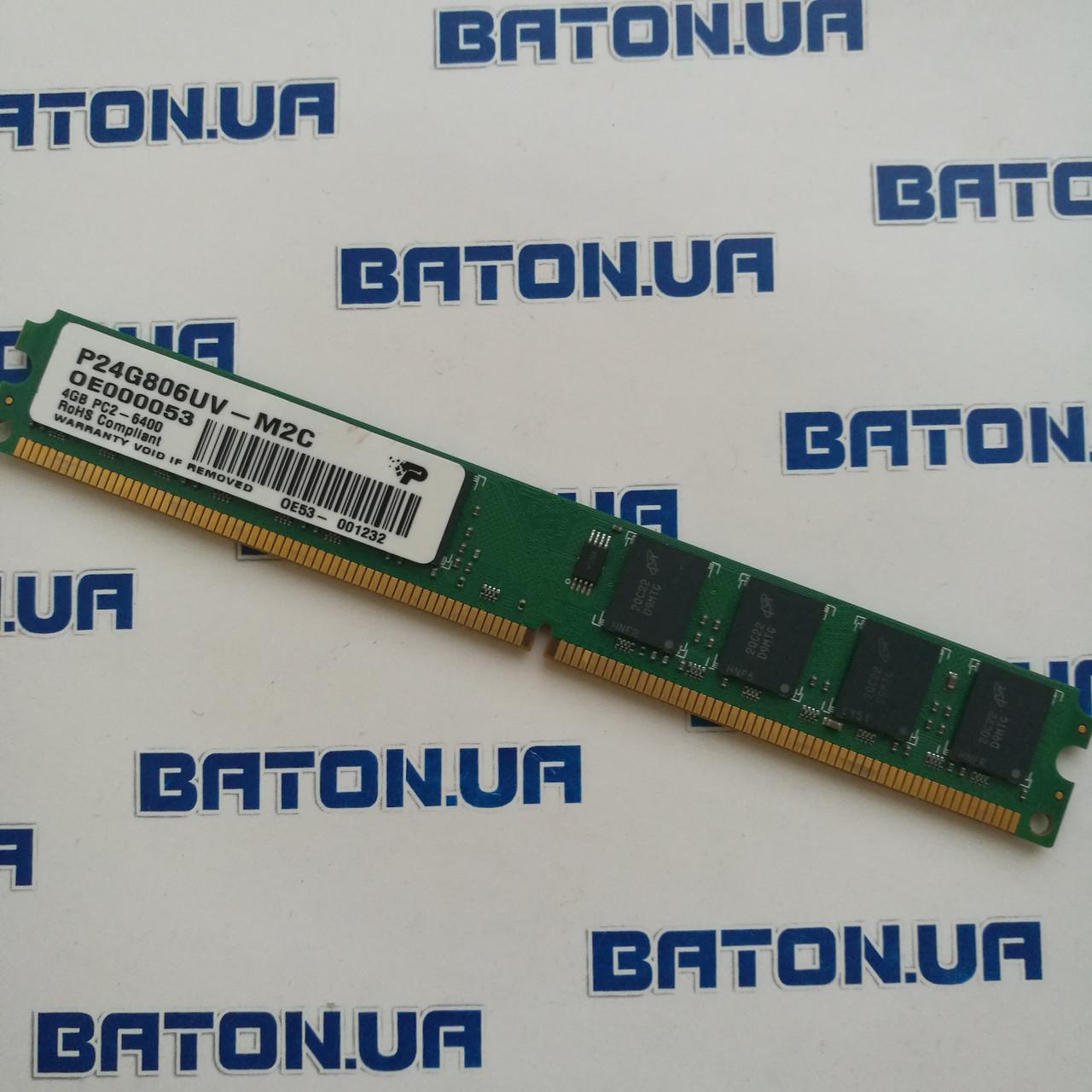 Оперативная память Patriot DDR2 4Gb 800MHz PC2 6400U LP CL6 (P24G806UV-M2C)