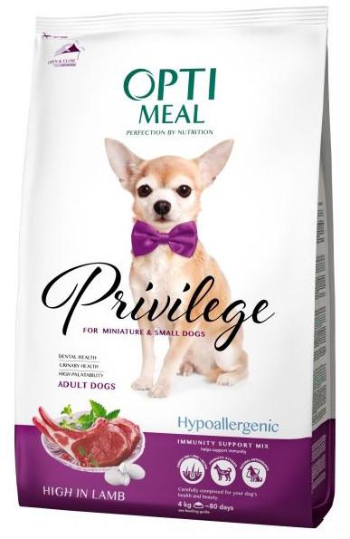 Корм низкозерновой для щенков малых пород с ягнёнком Optimeal Privilege Puppies