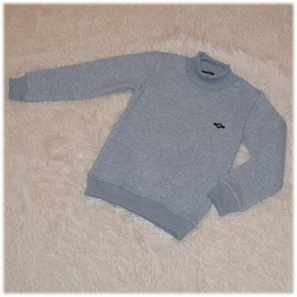 Кофта - гольф стильная на мальчика серая с начесом Турция  размер 110 116 122 128, фото 2