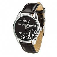 """Часы """"Late black"""" (ремешок насыщенно - черный, серебро) + дополнительный ремешок"""