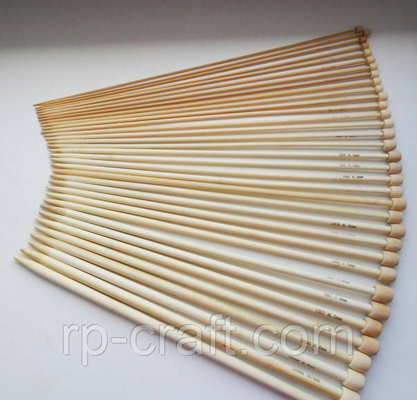 Набір бамбукових спиць, 18 пар, 35 см