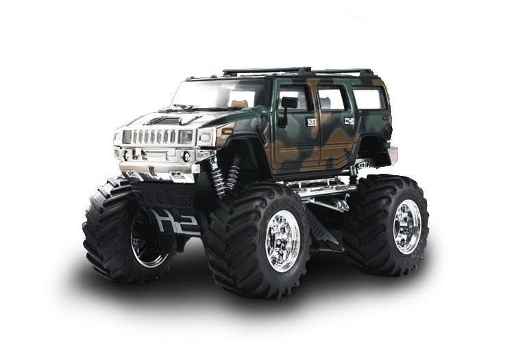Машинка на радиоуправлении джип 1:43 Great Wall Toys Hummer (хаки зеленый)