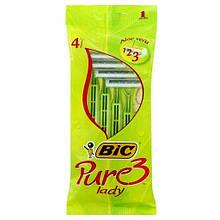 Bic Pure 3 Lady одноразовые бритвы 4 шт 3 лезвия