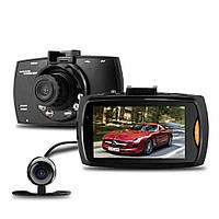 Видеорегистратор с двумя камерами G30B. FullHD, разрешение 1920x1080р