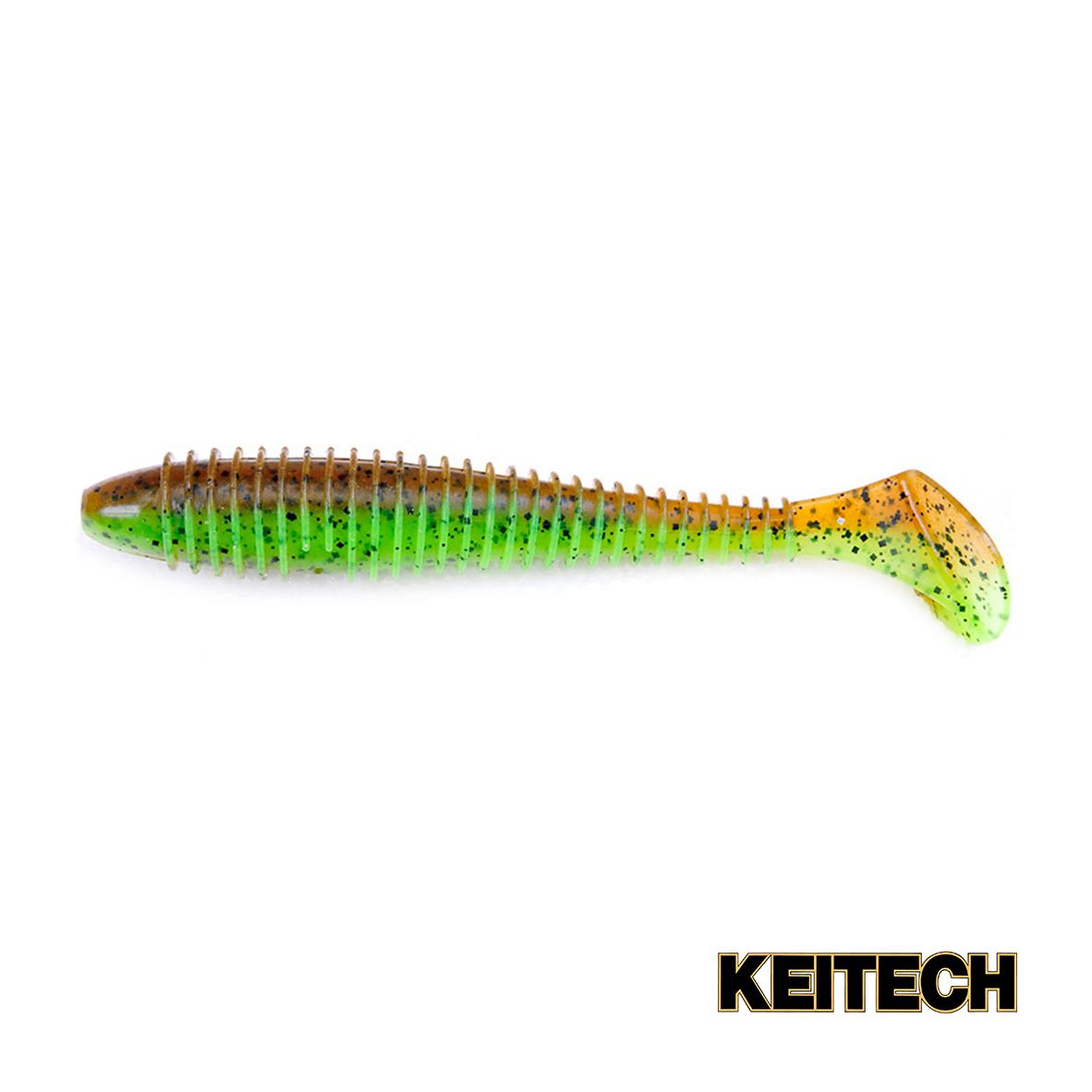 "Силикон Keitech Swing Impact FAT 4.3"" (5 шт/упак) ц:401 greenpump"