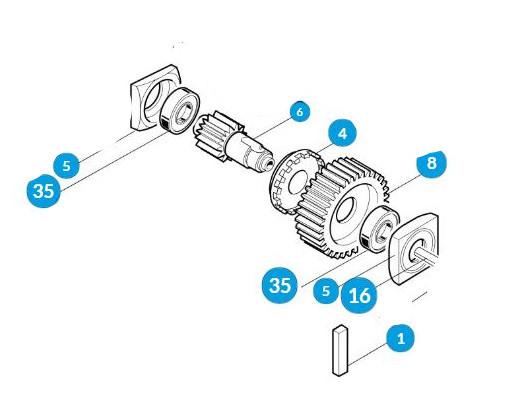 Шестерня редуктора в зборі - G4000 G4040 G6000 (119RIG051)
