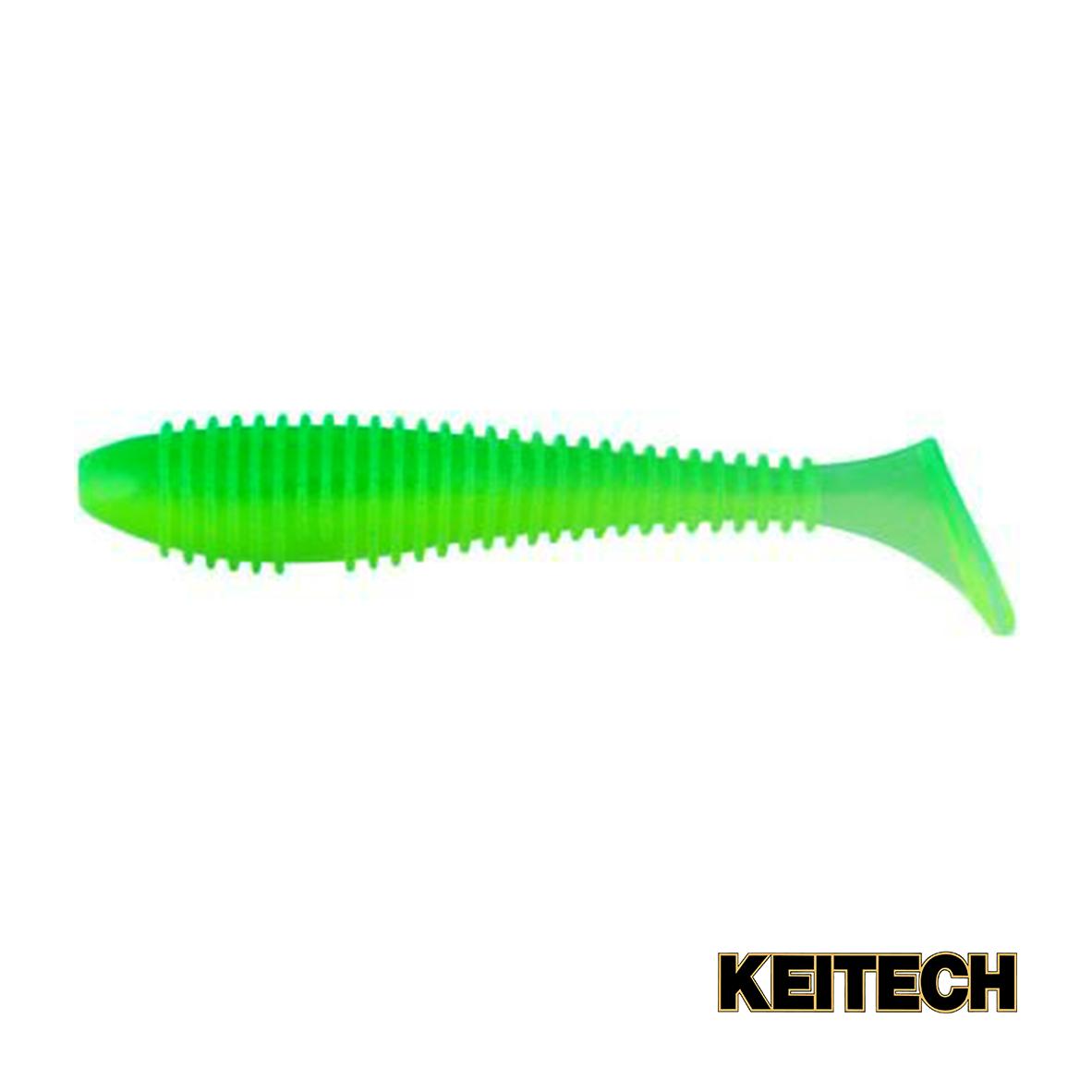 "Силикон Keitech Swing Impact FAT 4.3"" (5 шт/упак) ц:ea#11 lime ch"