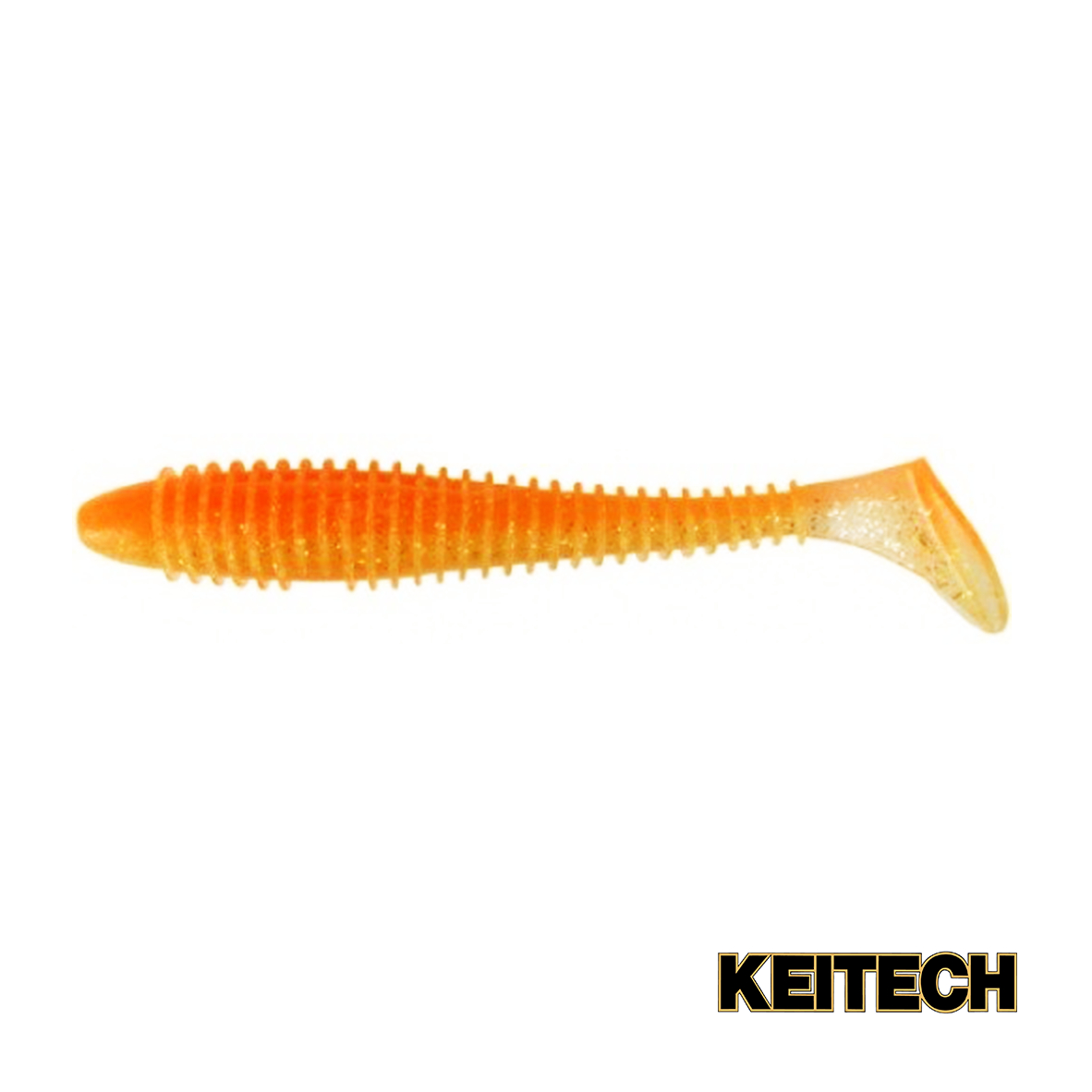 """Силикон Keitech Swing Impact FAT 3.3"""" (7 шт/упак) ц:ea#06 orange"""