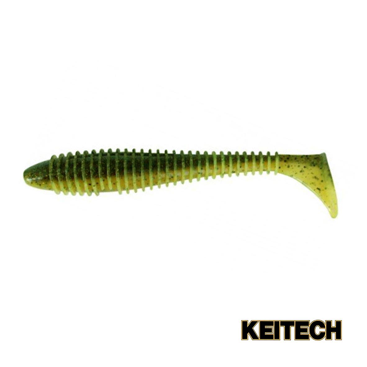 """Силикон Keitech Swing Impact FAT 3.8"""" (6 шт/упак) ц:ea#07 waterme"""