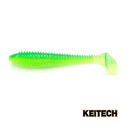 "Силикон Keitech Swing Impact FAT 4.8"" (5 шт/упак) ц:424 lime char"