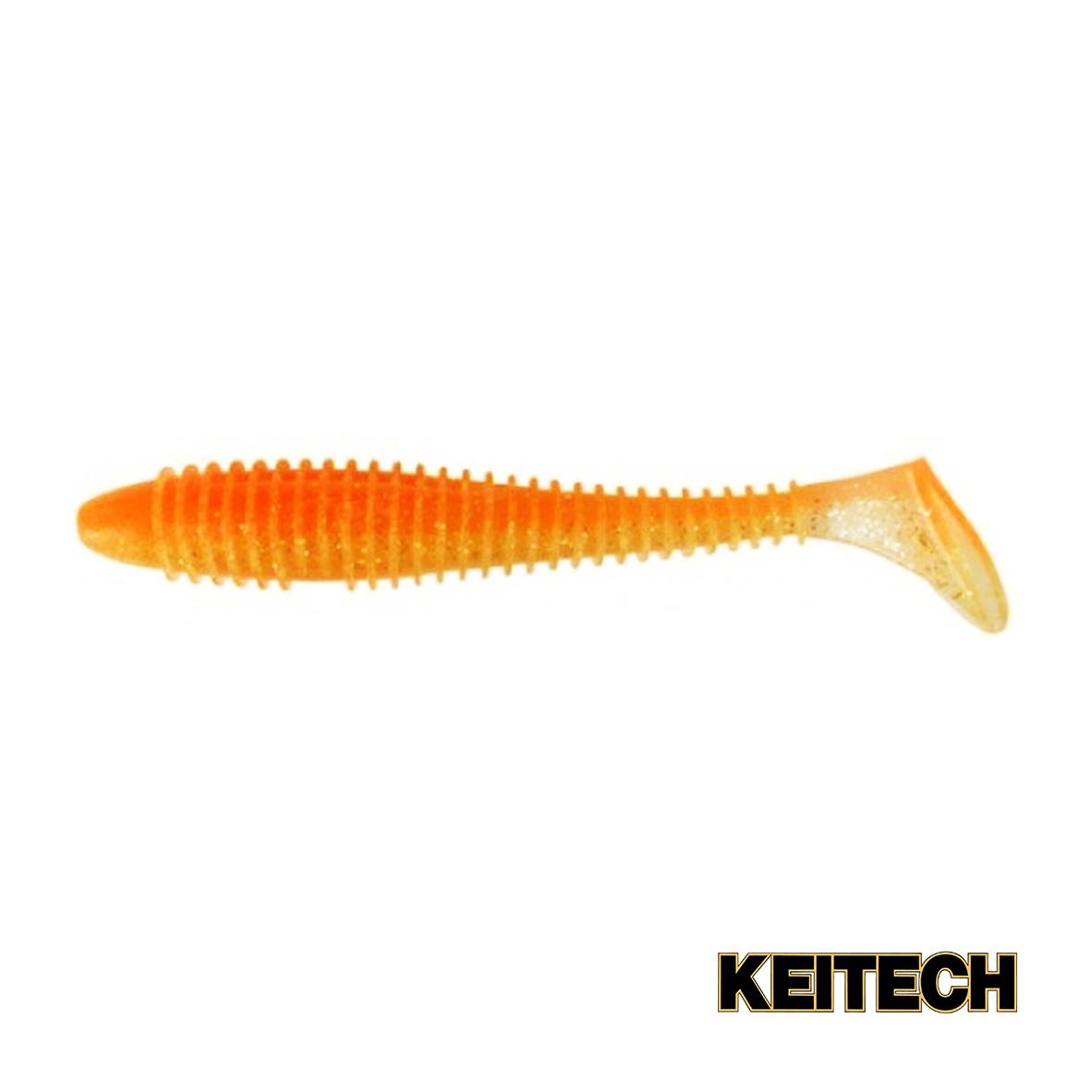 """Силикон Keitech Swing Impact FAT 4.8"""" (5 шт/упак) ц:ea#06 orange"""